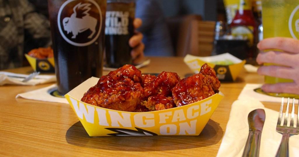 Buffalo Wild Wings Boneless Wings in restaurant