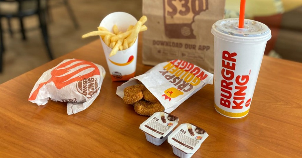 Burger King Snack Box with fries, burger and nuggets