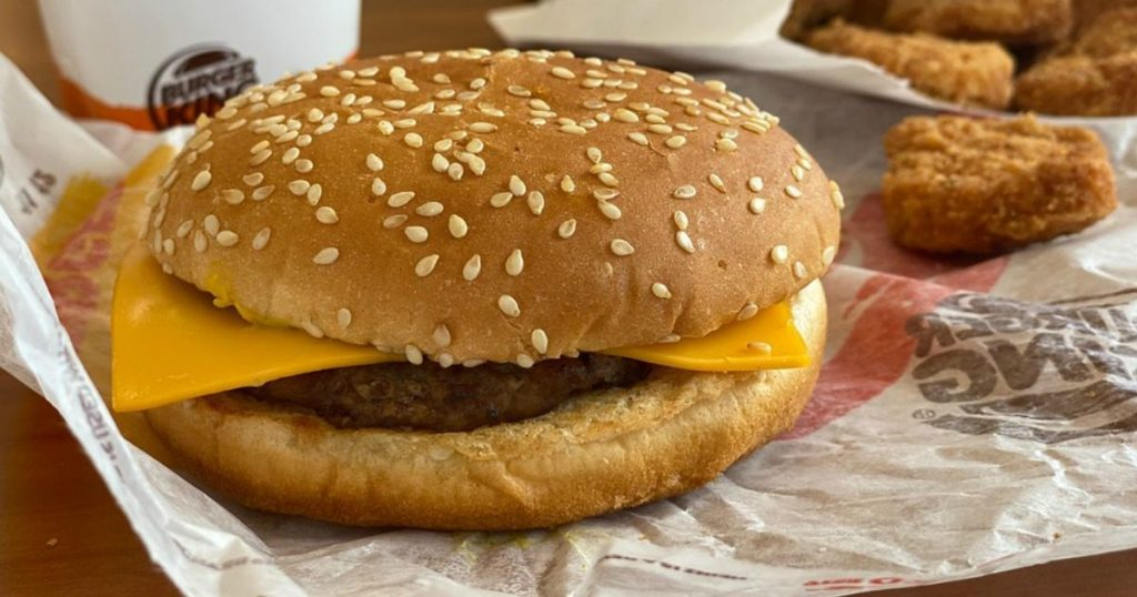 Burger King Snack pack with a burger, drink and more