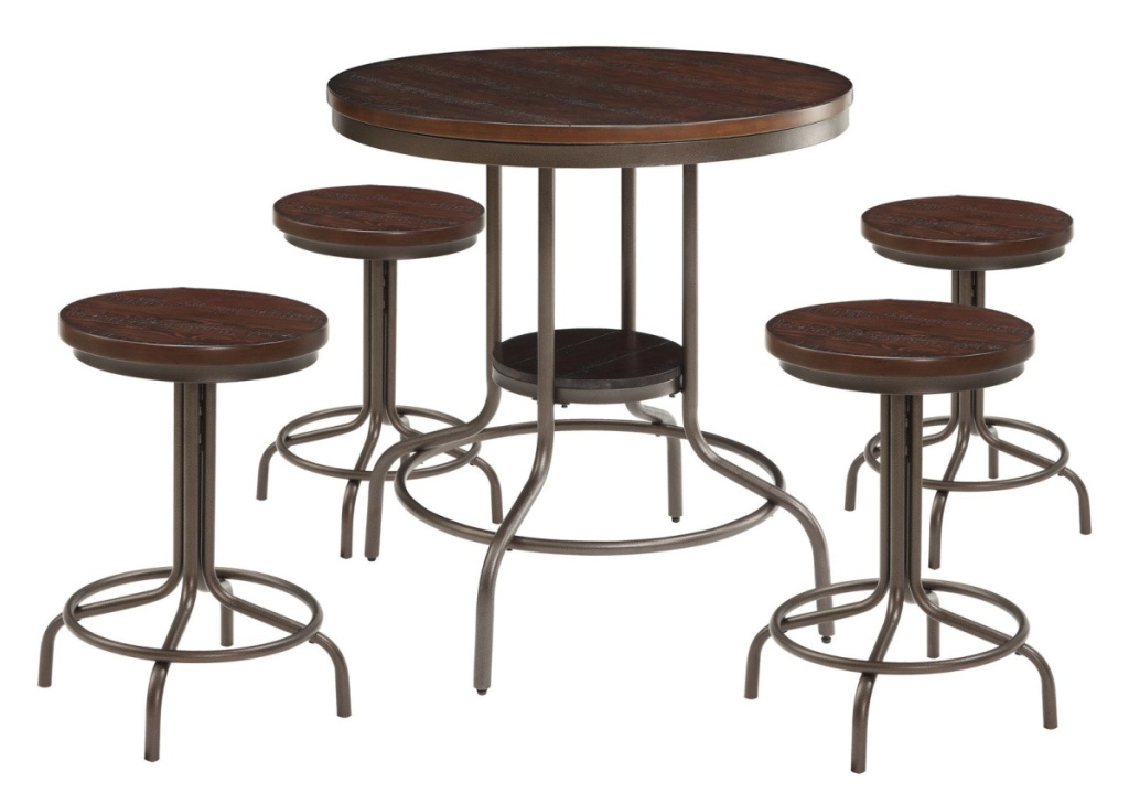 stock image of Burney 5-Piece Counter-Height Dining Set