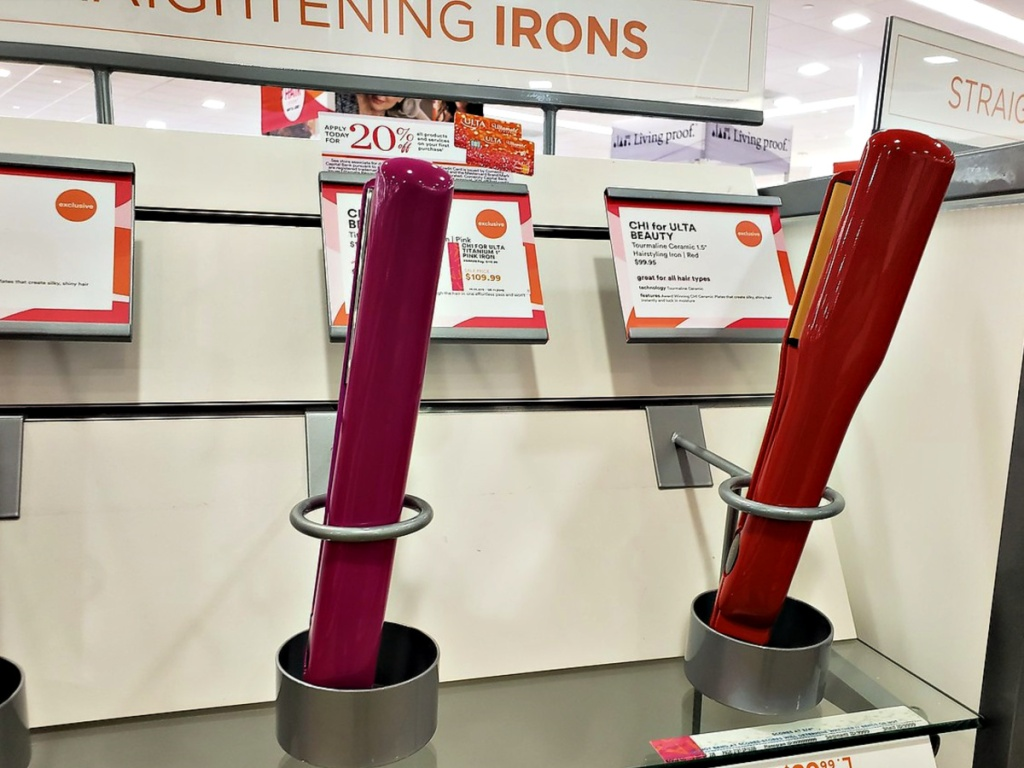 CHI for Ulta Beauty Temperature Control Hairstyling Iron in Red or Pink in ulta