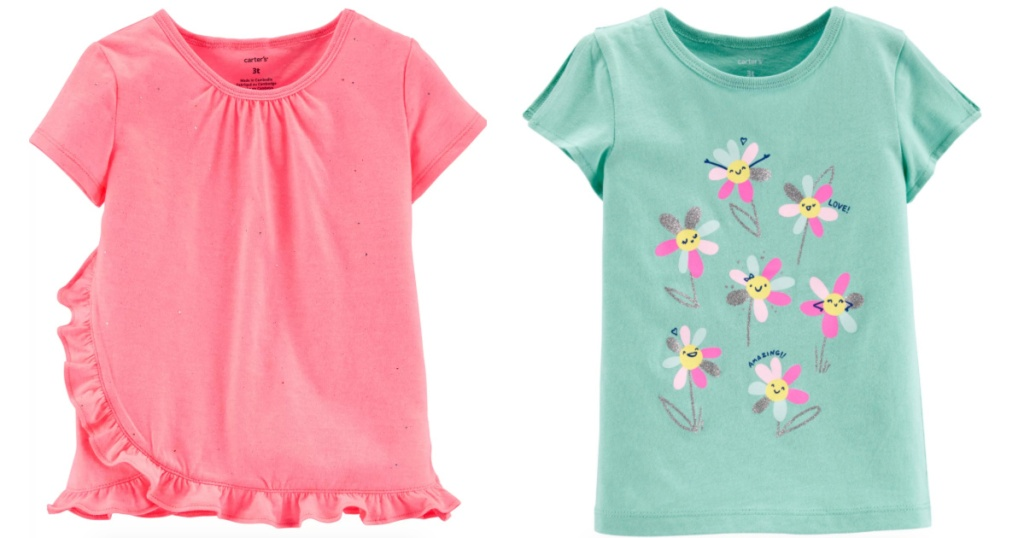 Carter's baby girls and toddler girls t-shirts