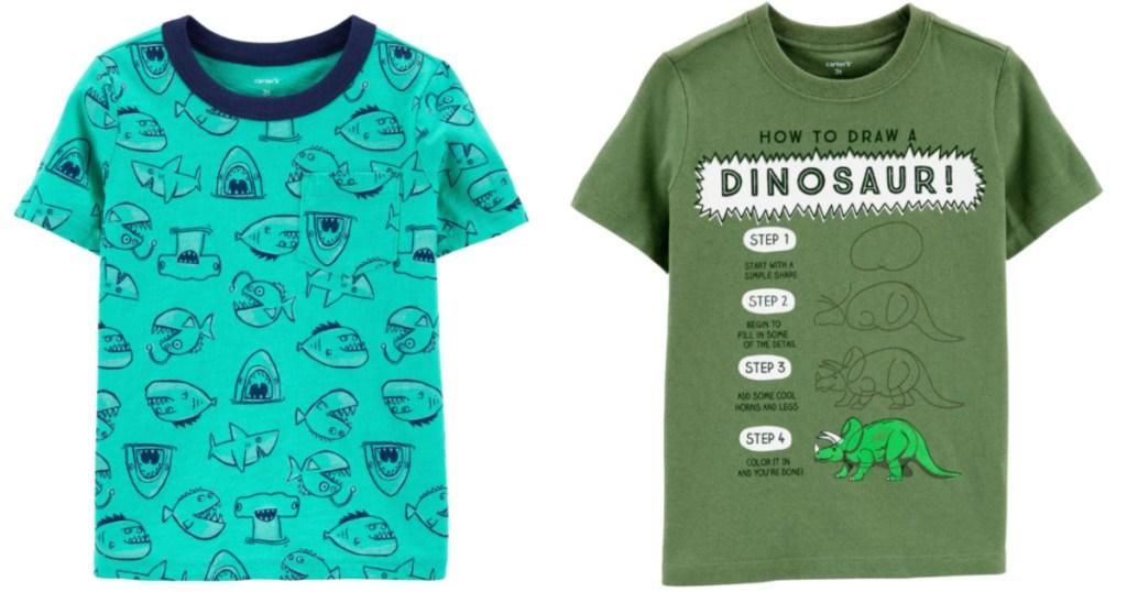 2 carters boy short-sleeve t-shirts