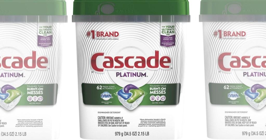 three containers of Cascade Platinum