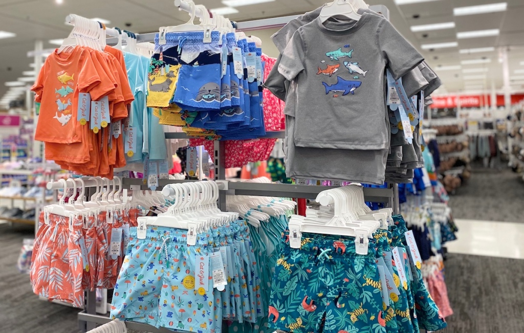 display of swimwear at Target