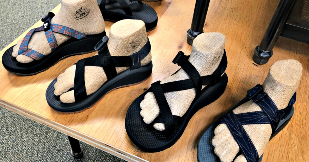 Chaco Sandals on shelf in store