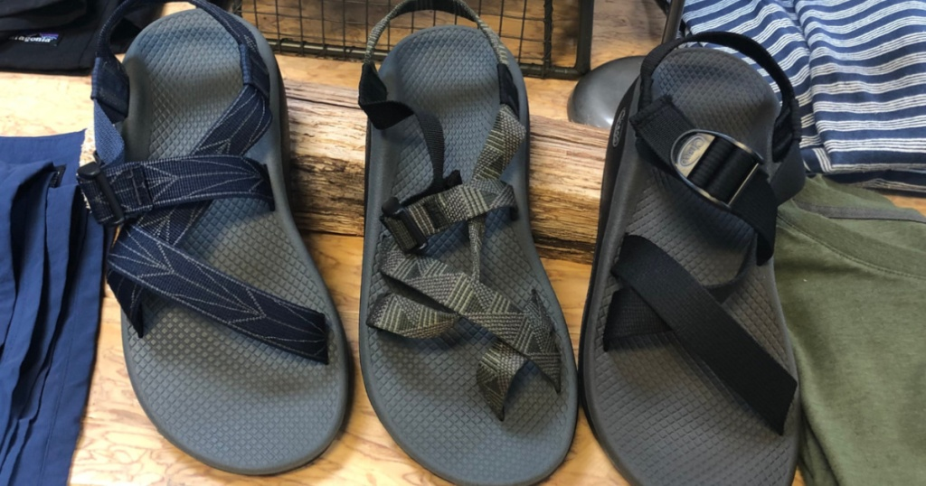3 pairs of adult Chaco sandals
