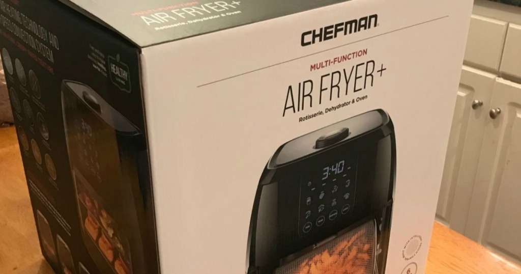 air fryer box sitting on a counter