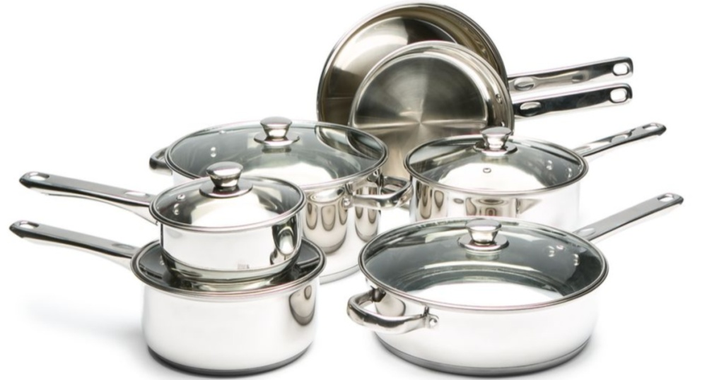 Cooks Tools 12-Piece Stainless Steel Cookware Set