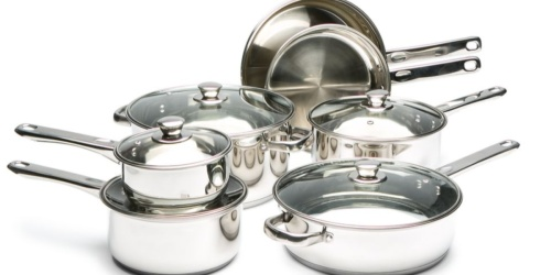 Cooks Tools 8-Piece Stainless Steel Cookware Set Only $27 on Belk.com
