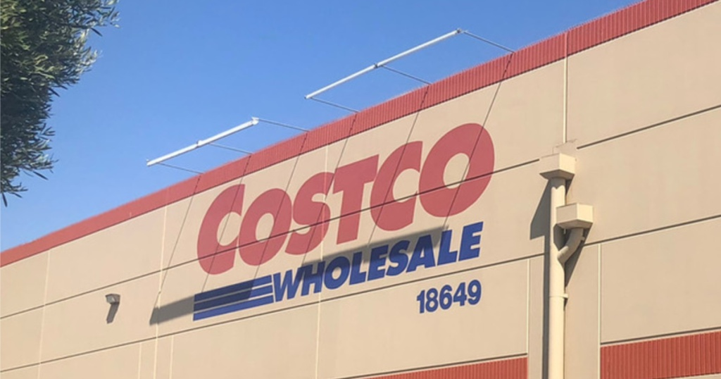 Costco storefront on sunny day