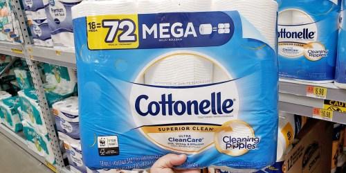 Cottonelle Toilet Paper Mega Rolls 18-Pack Only $16.48 on Walmart.com