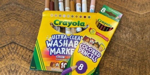Over 50% Off Crayola Multicultural Colored Pencils on Amazon