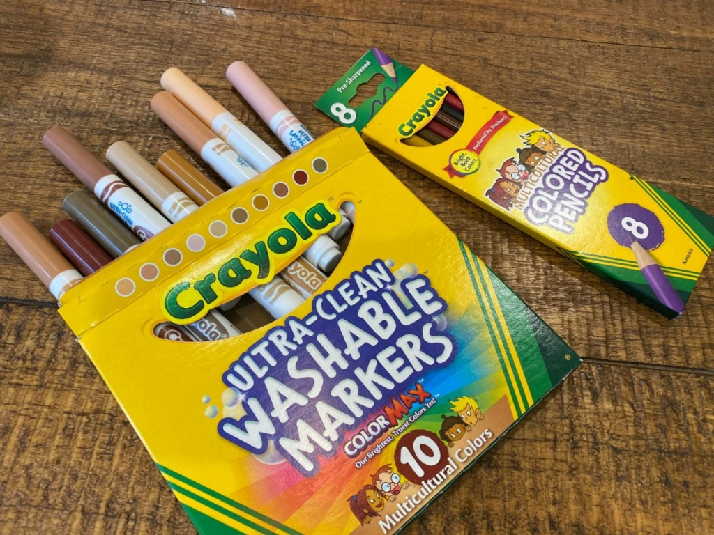 Crayola Multicultural Washable Markers 10-count on table