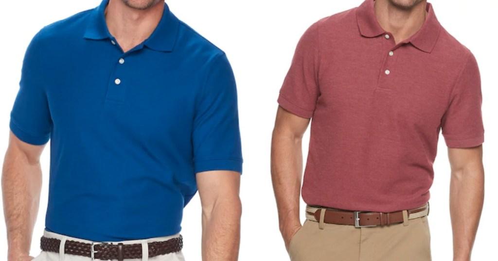 two men wearing polo shirts