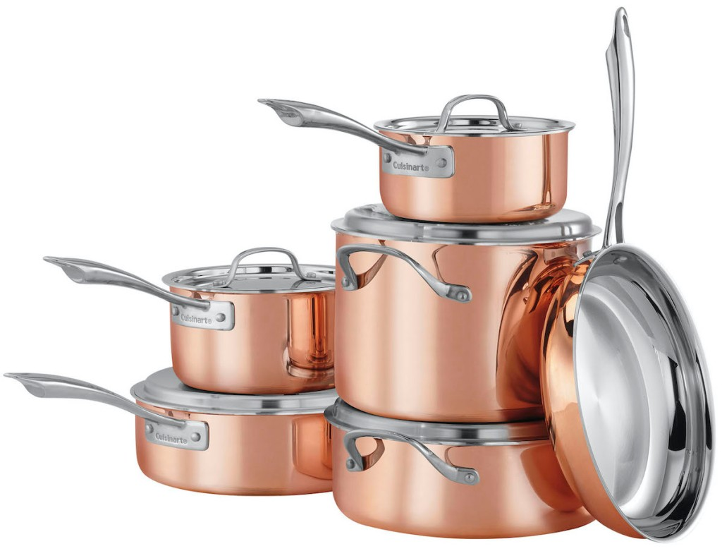 Cuisinart Copper 11-Piece Cookware Set stacked up