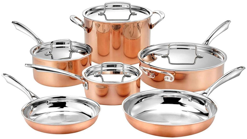 Cuisinart Copper Cookware Set, 8 Piece set