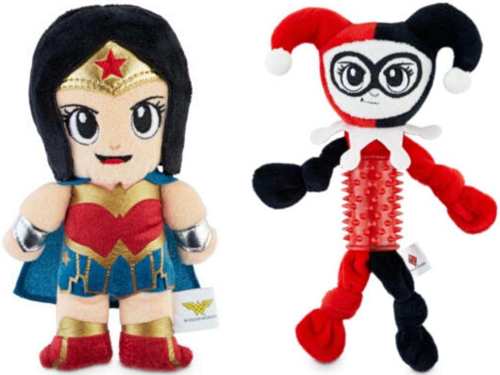 two DC comics pet toys