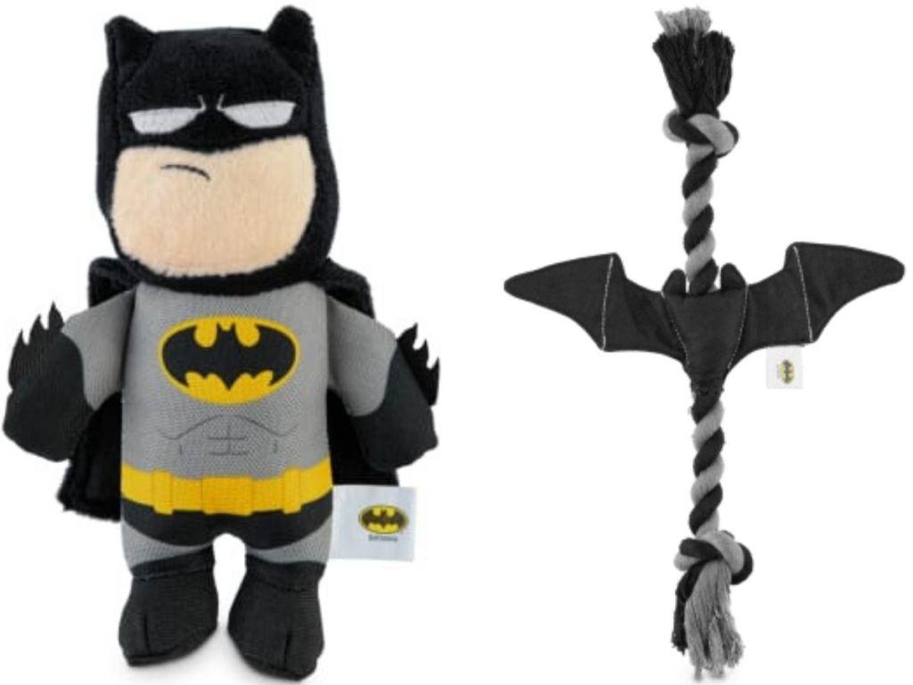 two batman dog toys