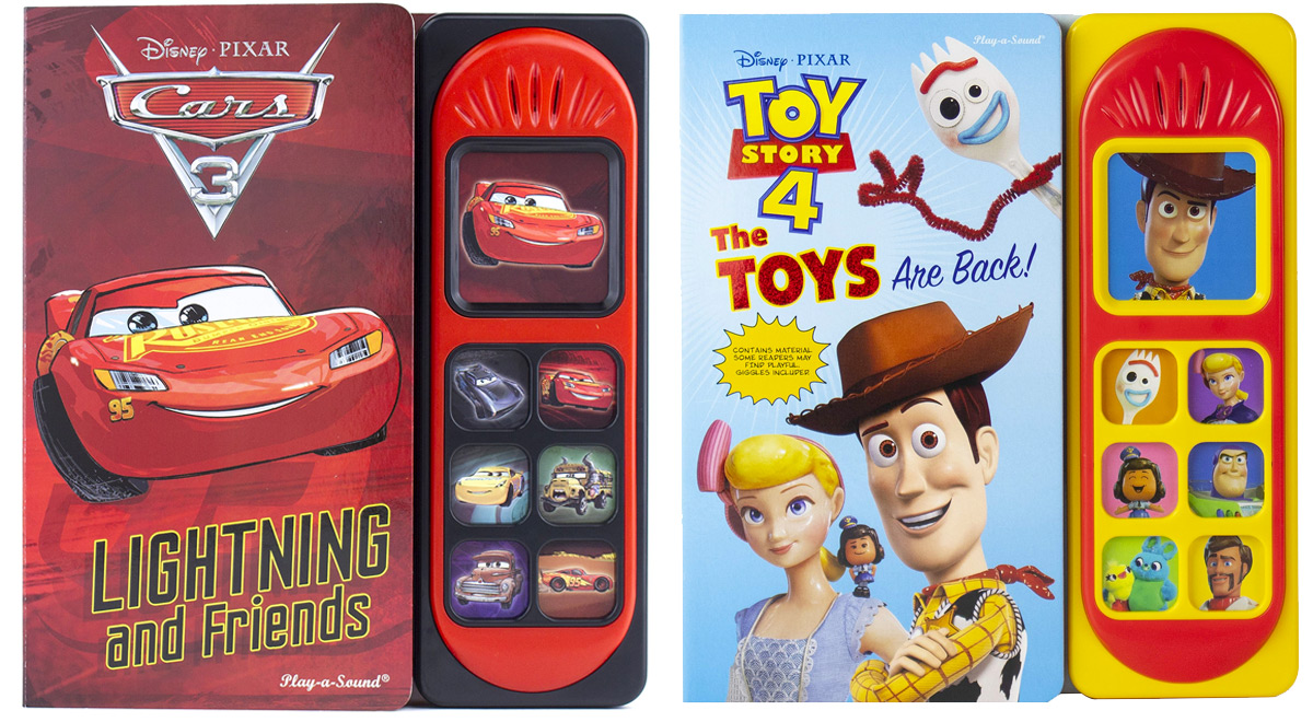 disney cars 3 and toy story 4 sound books
