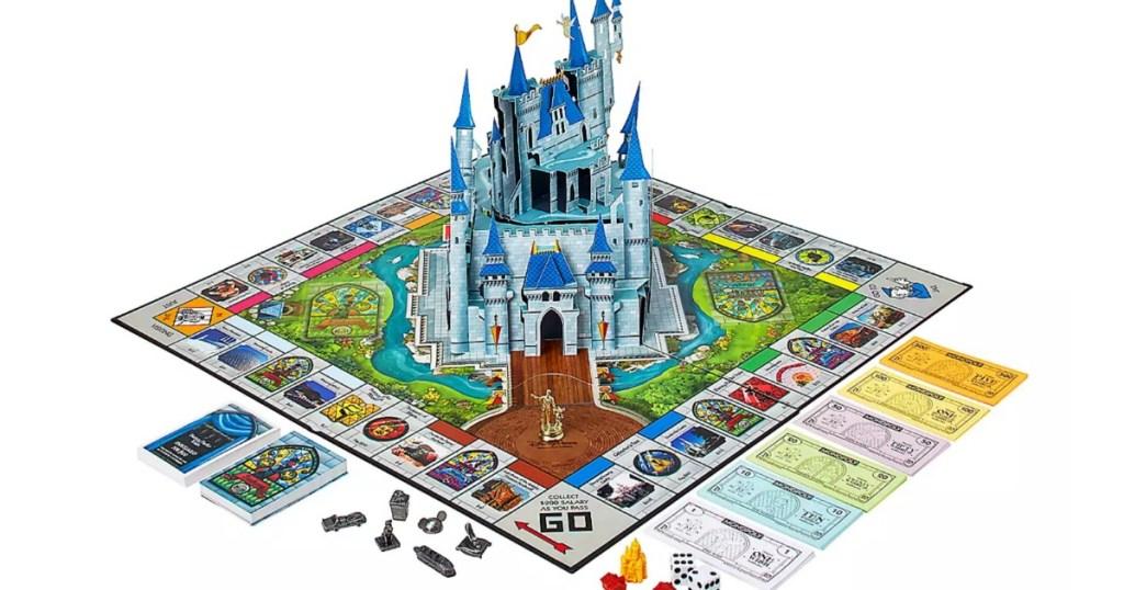 Pop up castle in Disney Parks Monopoly Game