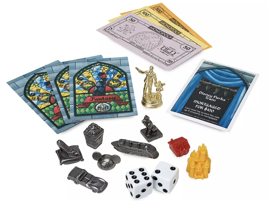 Disney Parks Monopoly game pieces