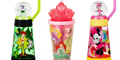 Disney Snowglobe & Lightup Tumblers w/ Straws Only $7 Shipped (Regularly $13)