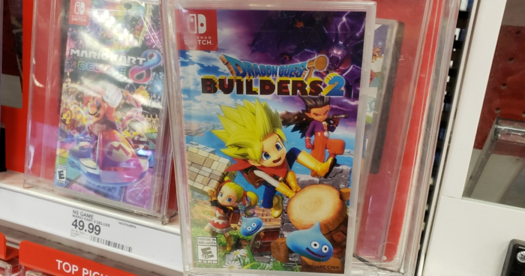 video games for Nintendo Switch on store shelf