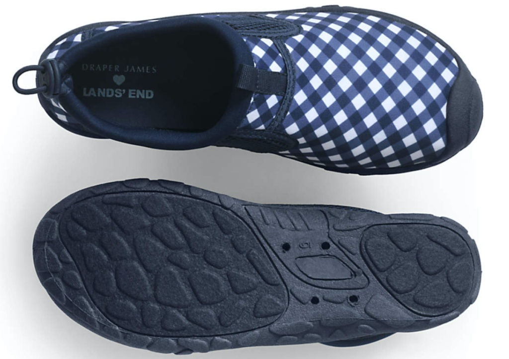 women's black and white polka dot water shoes