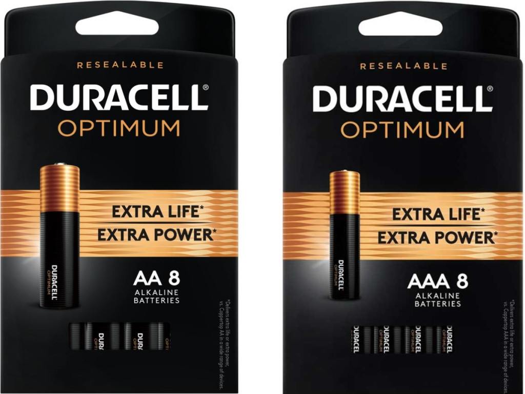 Duracell Optimum AA and AAA 8 pack