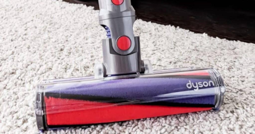 vacuum on white rug