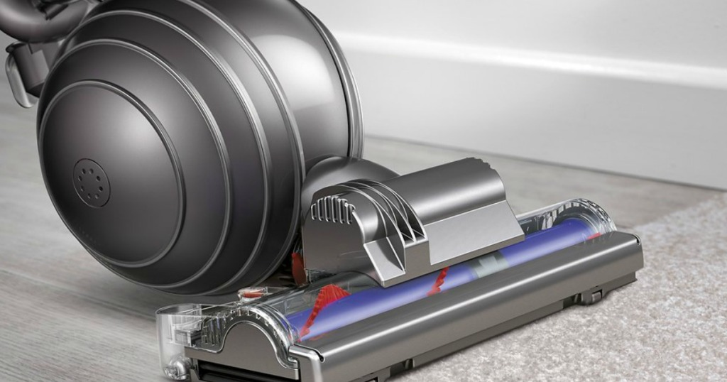 front of a Dyson Vacuum