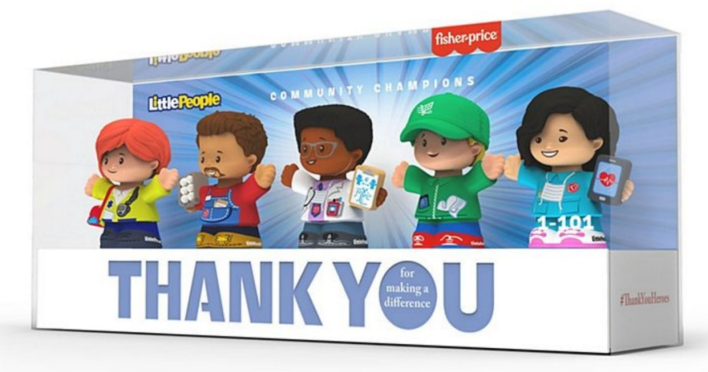 box of Fisher Price Thank You Heroes