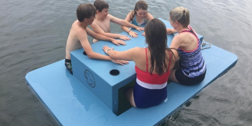 This Floating Picnic Table is Perfect for Family Time on the Lake, But It's Gonna Cost Ya!