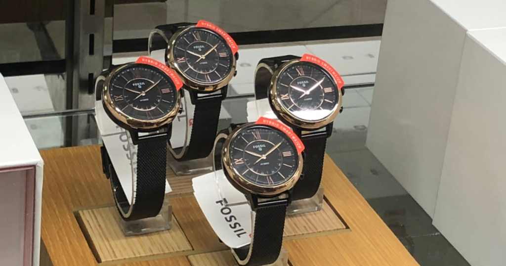 group of men's black leather band watches