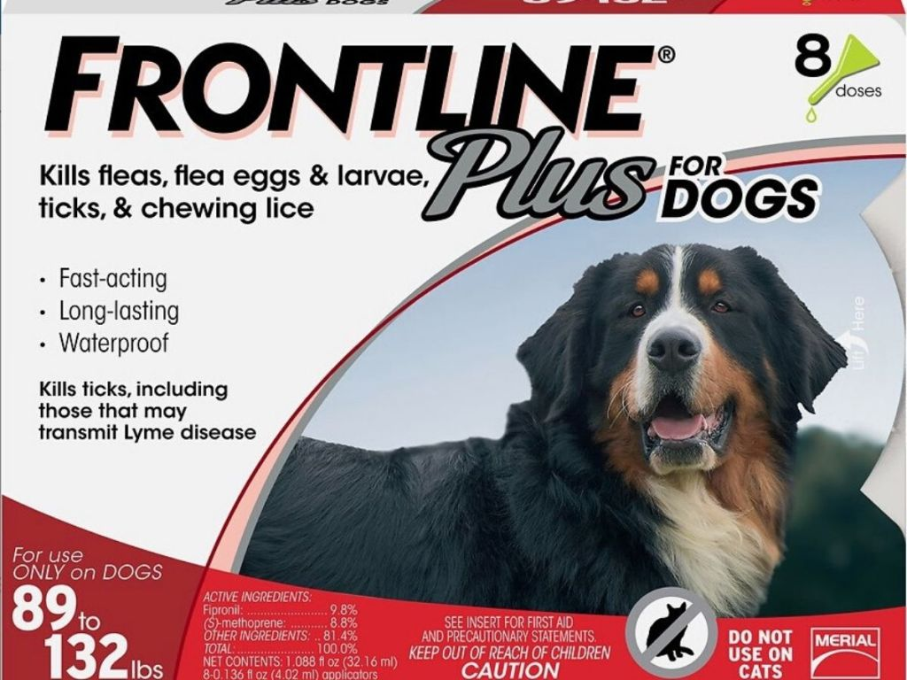 frontline plus flea & tick treatment for XL dogs