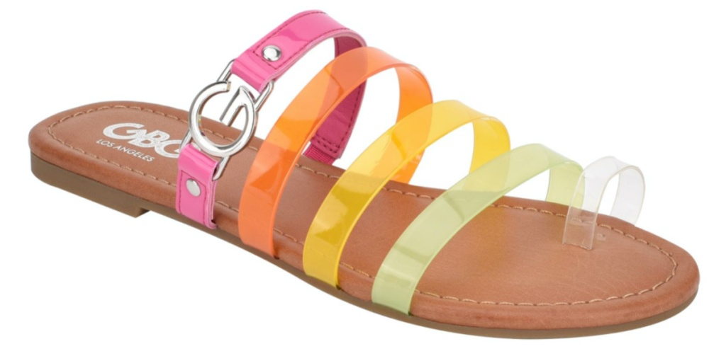 womens multi-colored strappy sandal