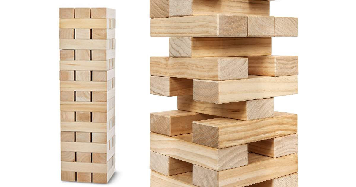 Giant Tumbling Tower Game