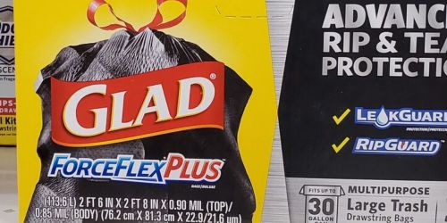Glad ForceFlexPlus Trash Bags 25-Count Just $5.58 Each on Amazon