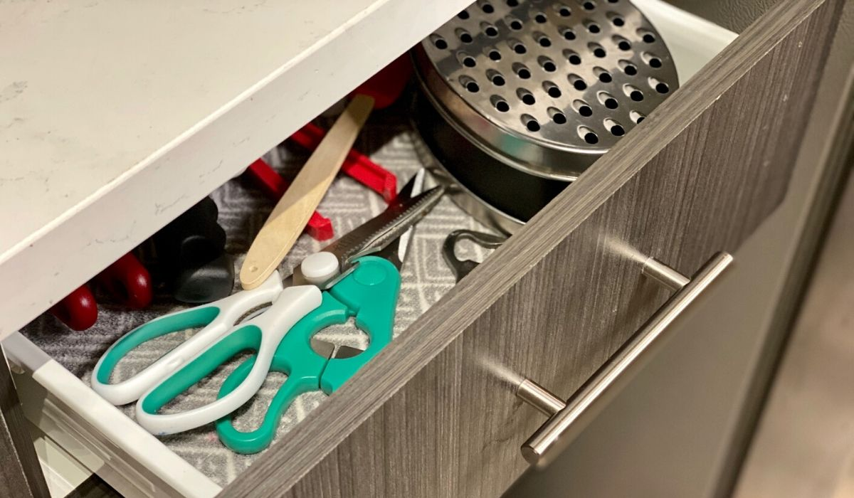 Amazon cheese grater in a kitchen drawer