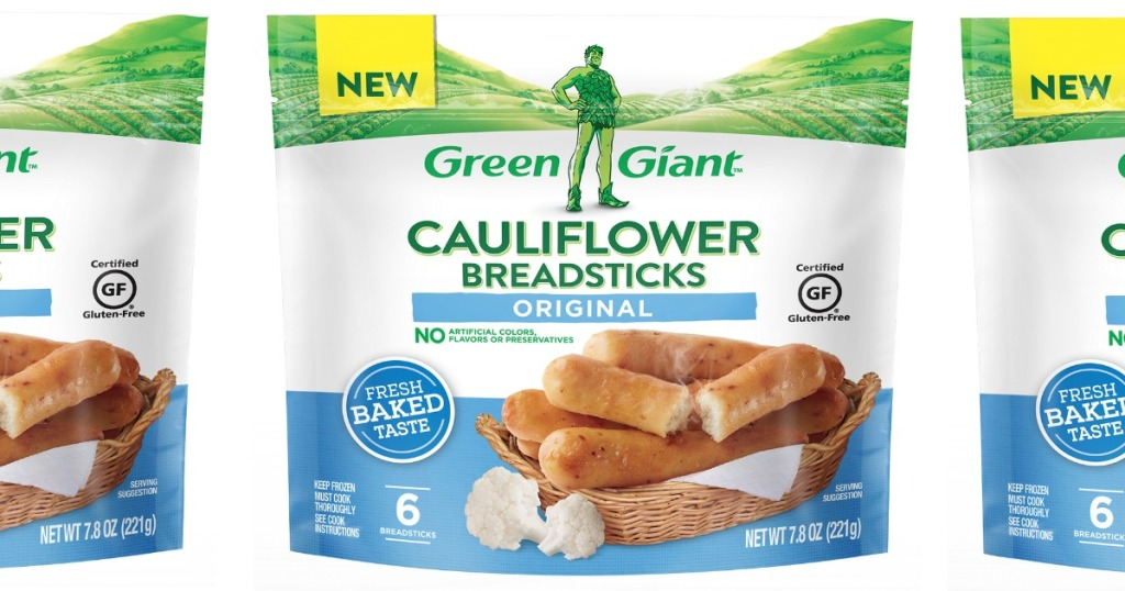 bags of Green giant Cauliflower Breadsticks