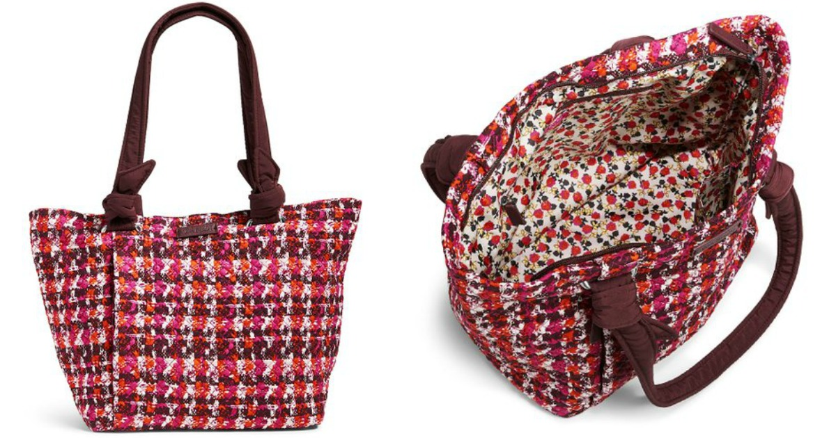 fabric tote bag exterior and interior images