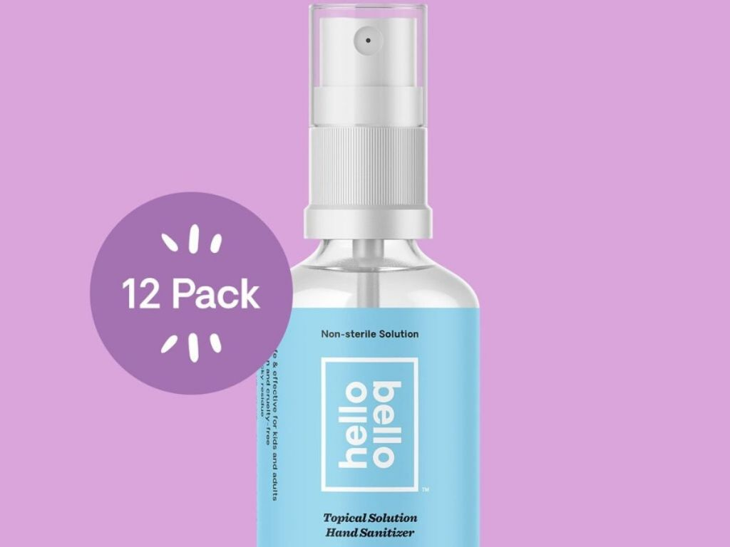 bottle of hand sanitizer spray