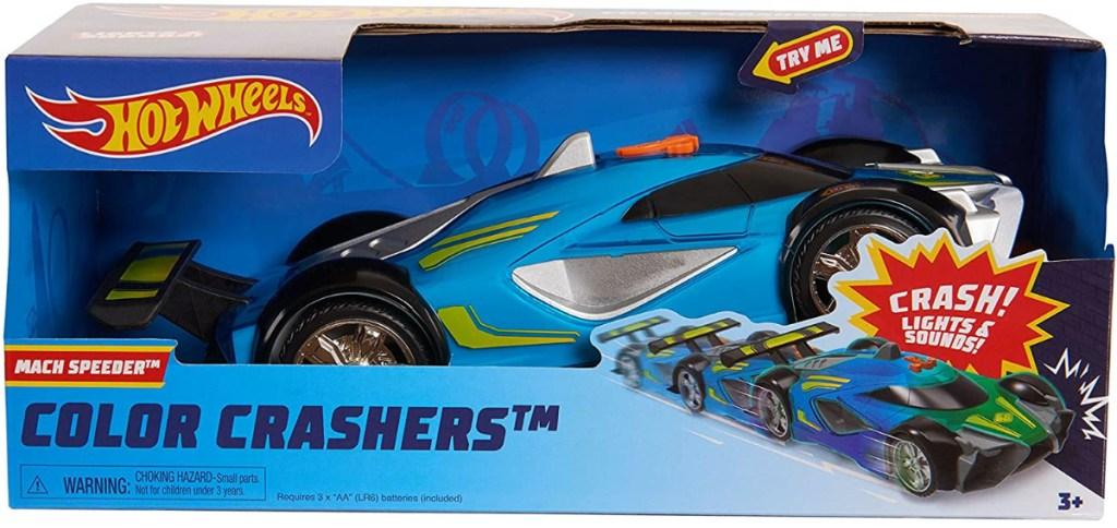 medium size blue speeder car in package
