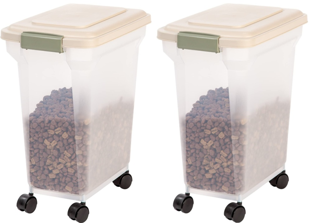 pet container filled with pet food