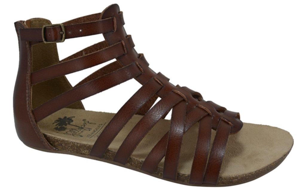 womens brown gladior sandal