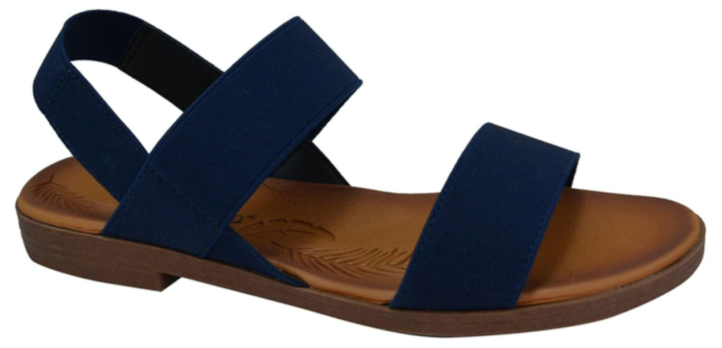 women's navy blue banded sandal