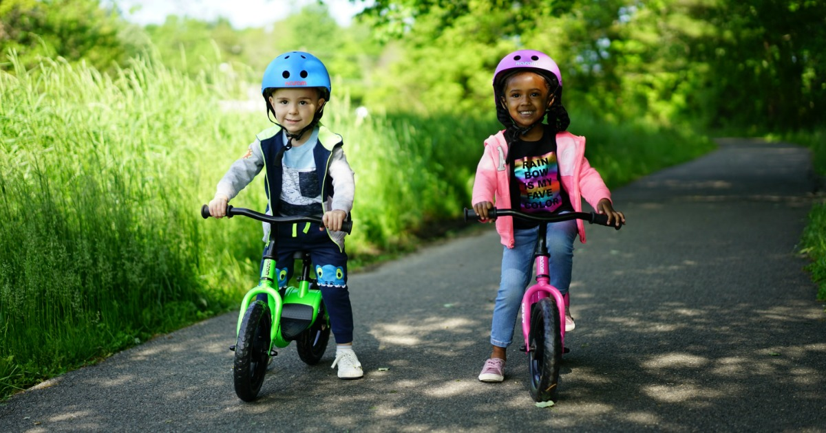 kids playing on KaZAM Balance Bikes