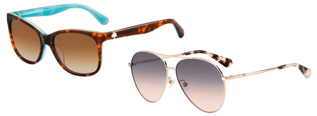 two pairs of kate spade sunglasses