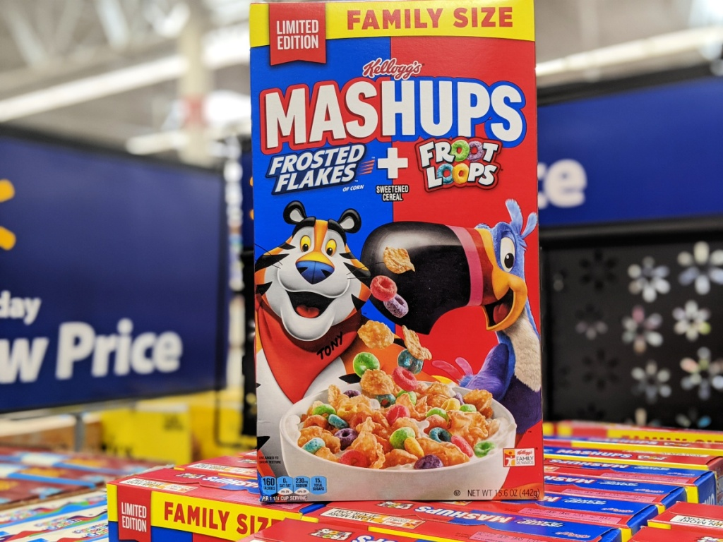 Kellogg's Mashups Cereal mixes Frosted Flakes and Froot Loops in walmart